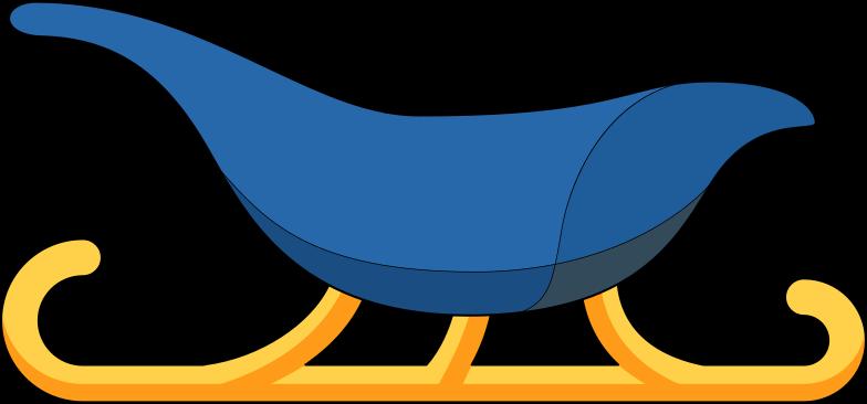 Schlitten Clipart-Grafik als PNG, SVG