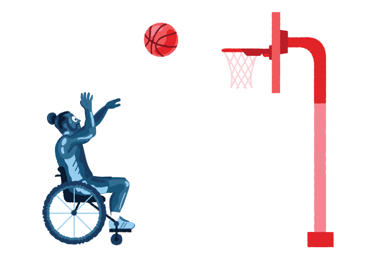 style Paralympic basketball Vector images in PNG and SVG | Icons8 Illustrations