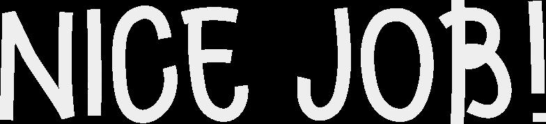 nicejob Clipart illustration in PNG, SVG