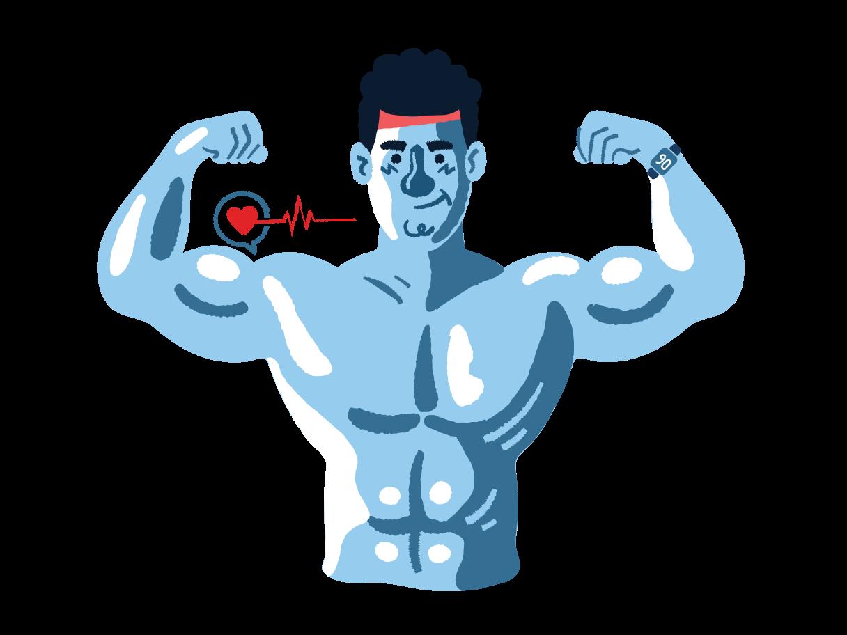 Bodybuilder Clipart illustration in PNG, SVG