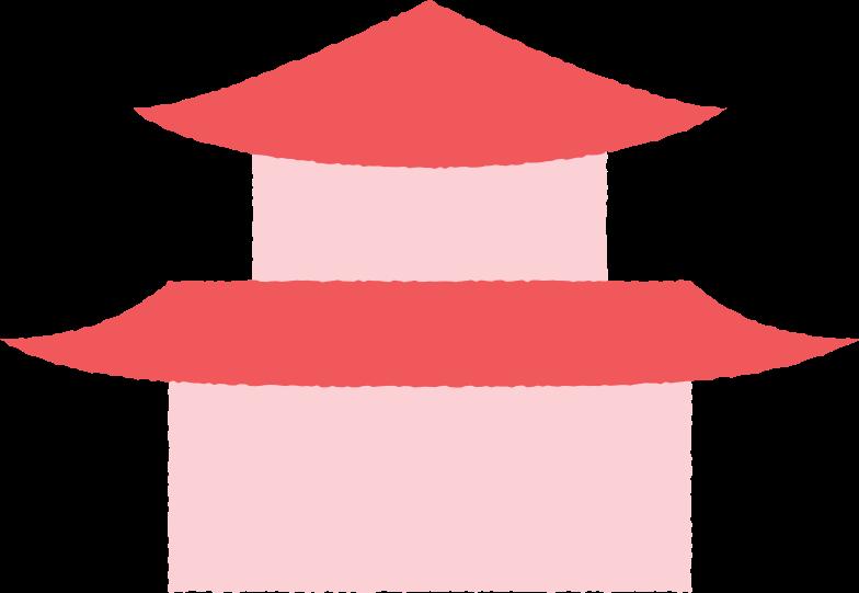 pagoda short Clipart illustration in PNG, SVG