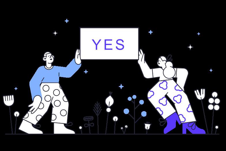 Sì Illustrazione clipart in PNG, SVG