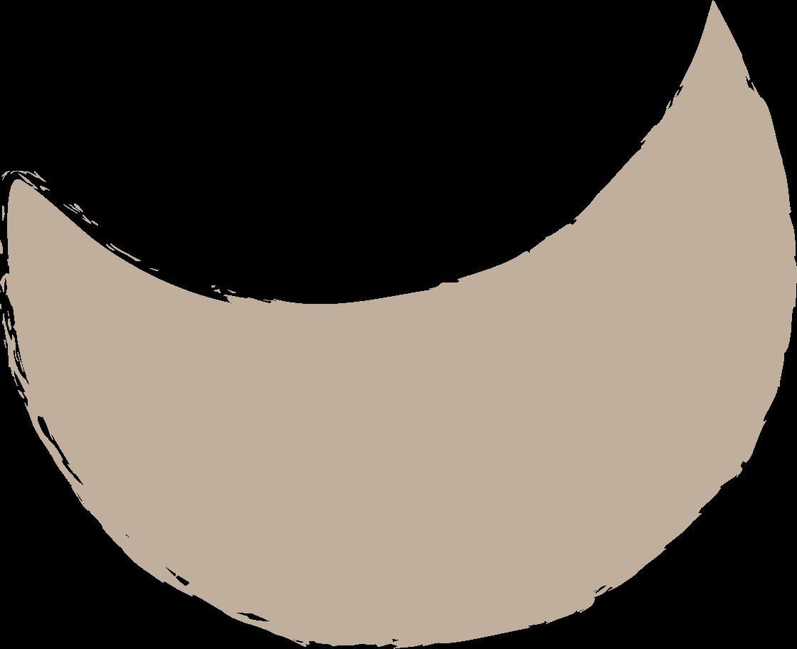 crescent-light-grey Clipart illustration in PNG, SVG