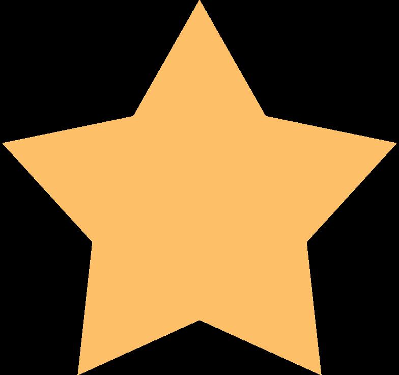 Stern orange Clipart-Grafik als PNG, SVG