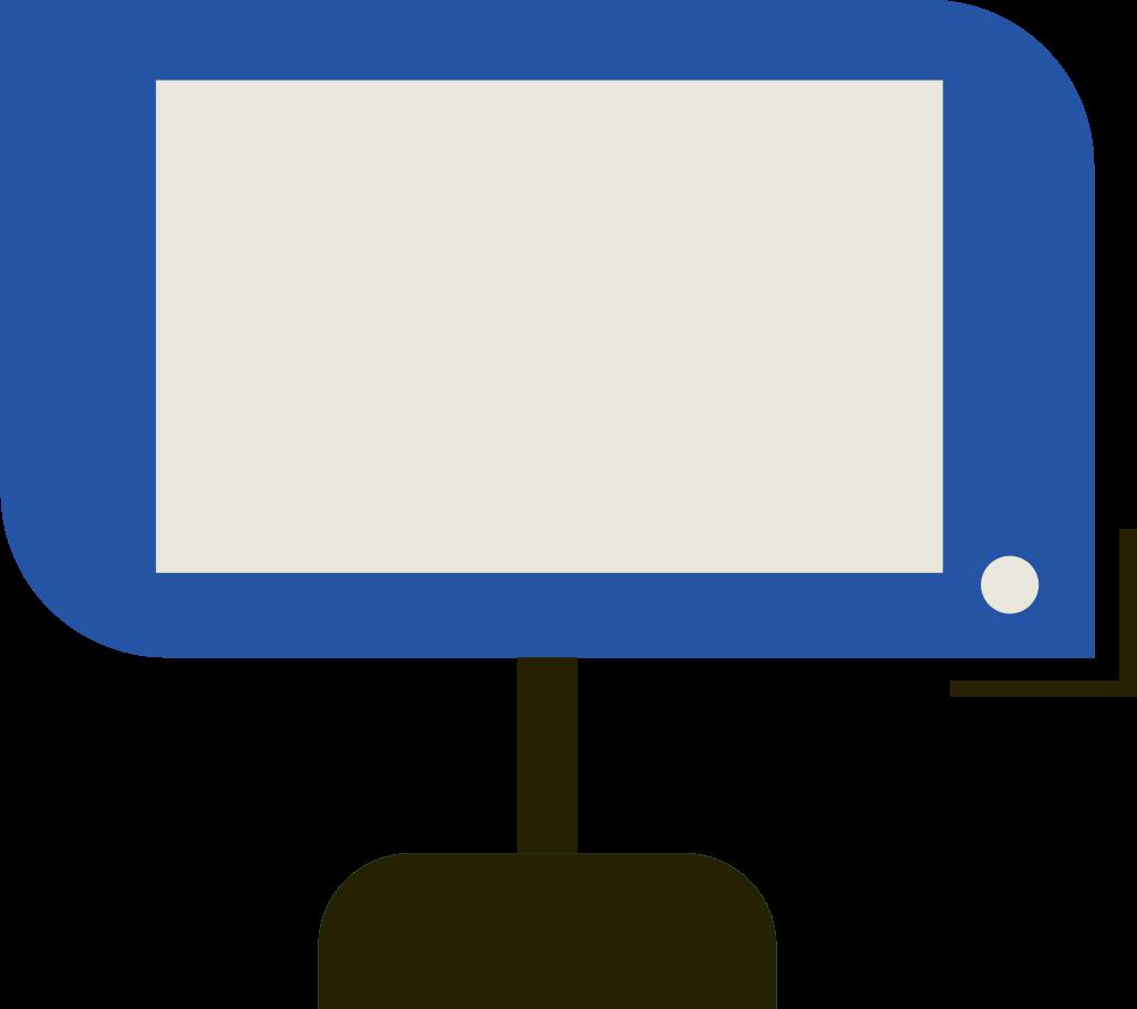 Ilustración de clipart de monitor en PNG, SVG