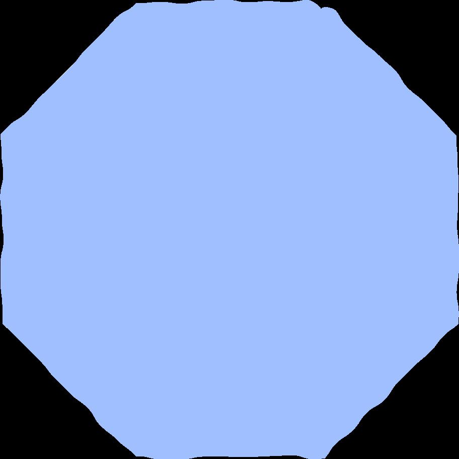 octagon light blue Clipart illustration in PNG, SVG