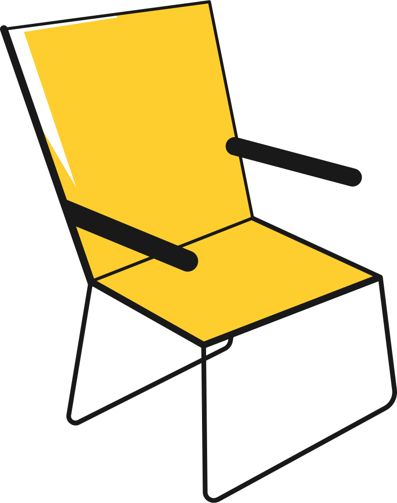 foldable chair Clipart illustration in PNG, SVG