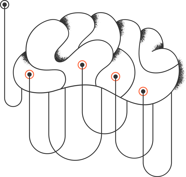 brain with electrodes Clipart illustration in PNG, SVG