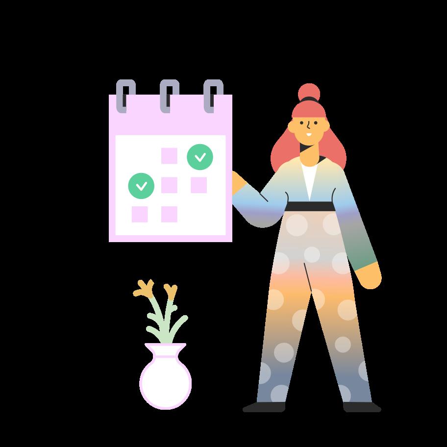 Date picker Clipart illustration in PNG, SVG