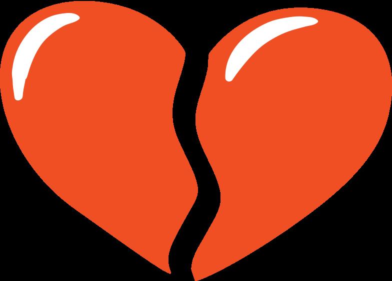 broken heart Clipart illustration in PNG, SVG