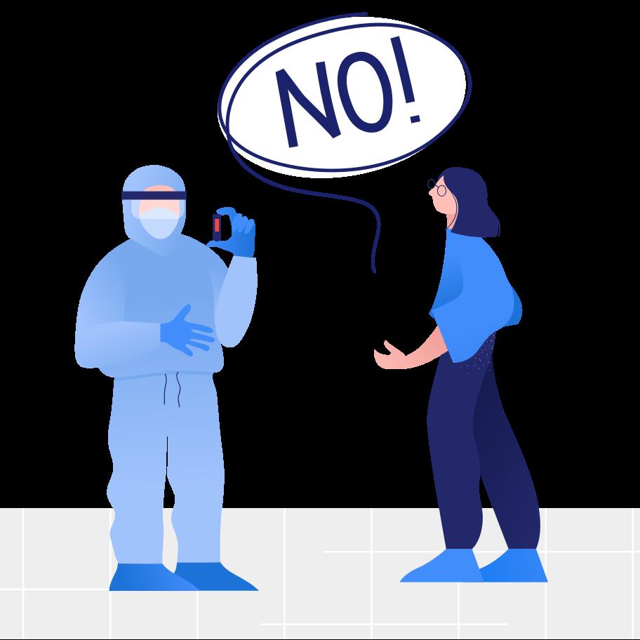 COVID-19 test result Clipart illustration in PNG, SVG