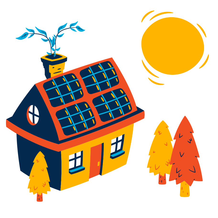 style Solar house Vector images in PNG and SVG   Icons8 Illustrations