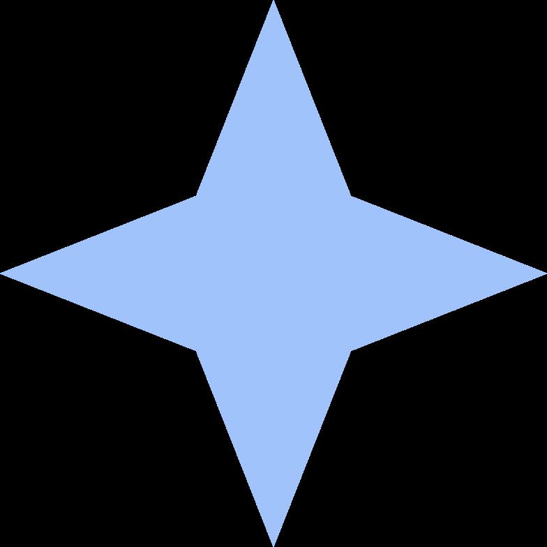 Ilustración de clipart de estrella decorativa en PNG, SVG