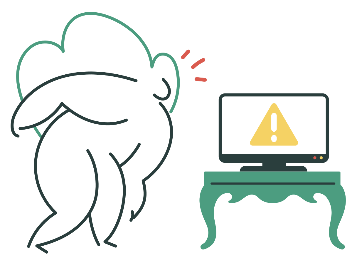 Broken tv Clipart illustration in PNG, SVG