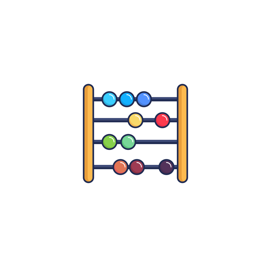 Abacus Clipart illustration in PNG, SVG