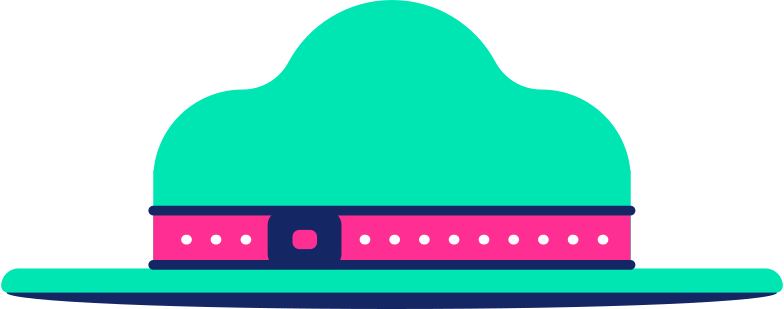 scout hat Clipart illustration in PNG, SVG