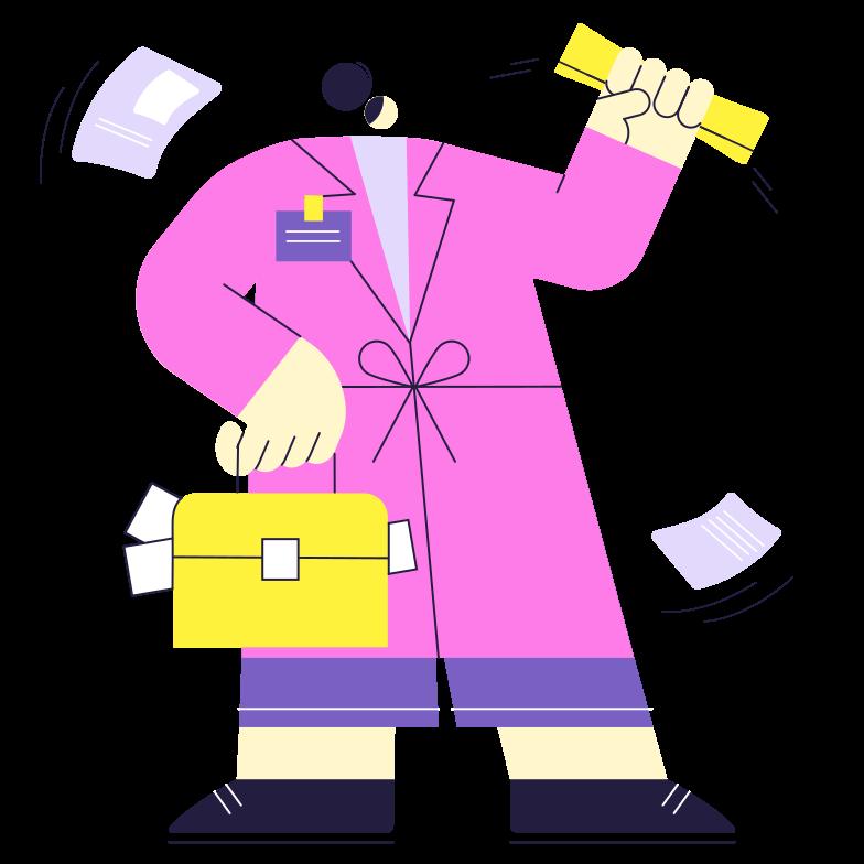Journalist Clipart illustration in PNG, SVG