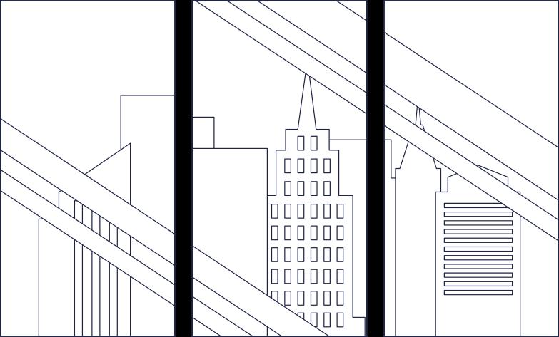 megapolis in window line Clipart illustration in PNG, SVG