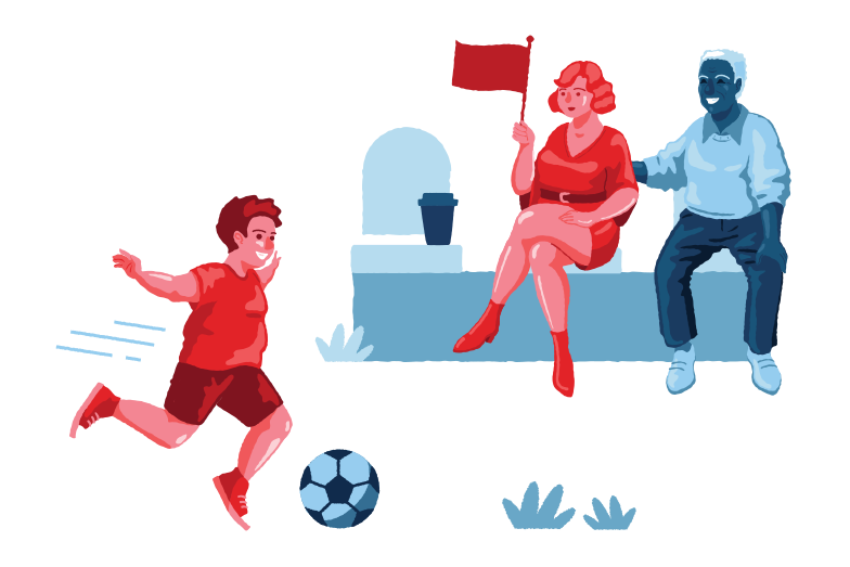 Family support Clipart illustration in PNG, SVG