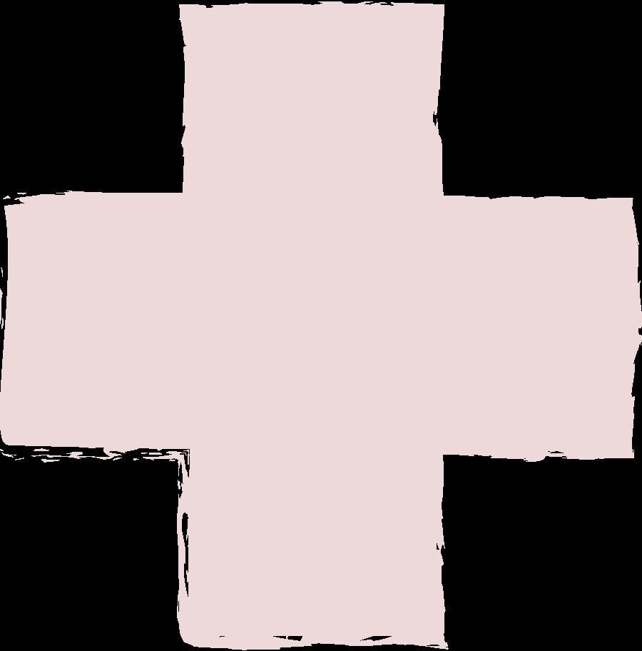 Ilustración de clipart de Cruz-rosa en PNG, SVG