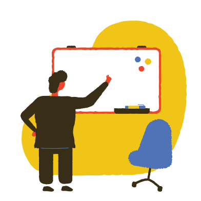 style Teacher writing on the board images in PNG and SVG | Icons8 Illustrations