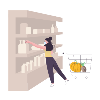style Woman shopping at the supermarket images in PNG and SVG | Icons8 Illustrations