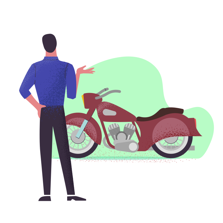 Enjoy the motorcycle Clipart illustration in PNG, SVG