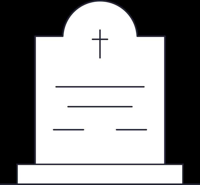 PNGとSVGの  スタイルの 墓石 ベクターイメージ | Icons8 イラスト