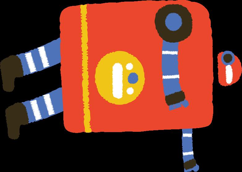 falling robot Clipart illustration in PNG, SVG