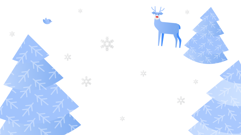 Winter forest Clipart illustration in PNG, SVG