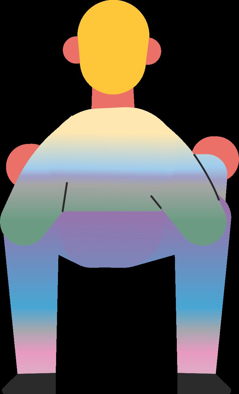 man sit Clipart illustration in PNG, SVG