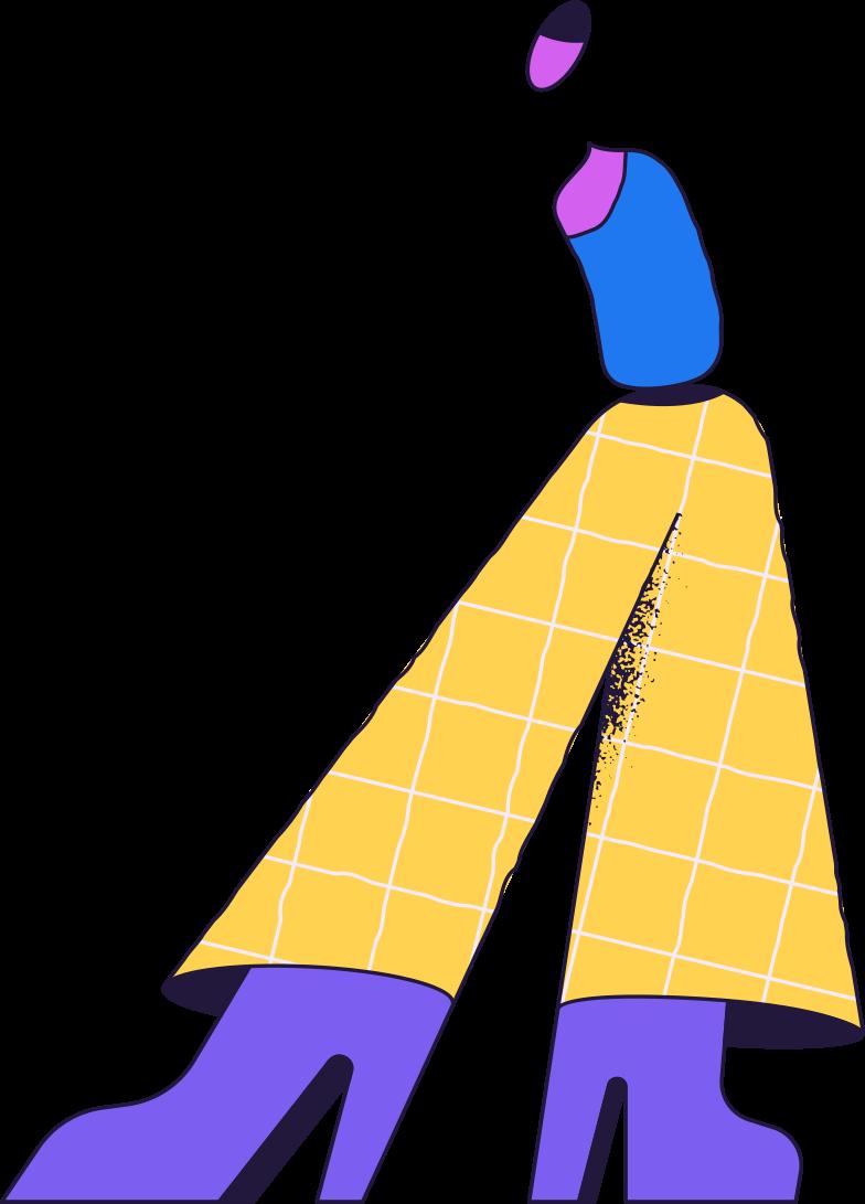 come back later  standing person Clipart-Grafik als PNG, SVG