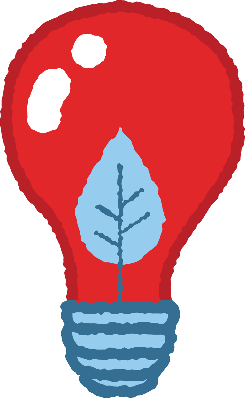light bulb with a leaf Clipart illustration in PNG, SVG