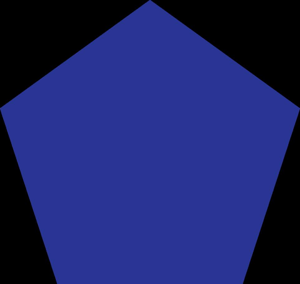 pentagon dark blue Clipart illustration in PNG, SVG