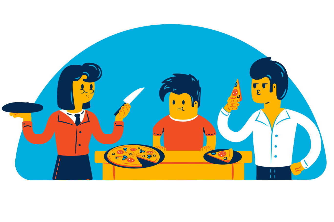 Pizza time Clipart illustration in PNG, SVG