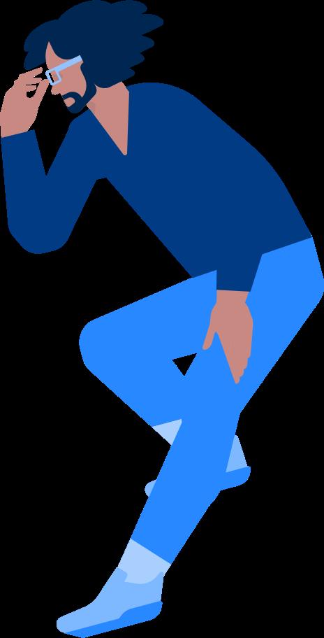 Ilustración de clipart de hombre pensando en PNG, SVG