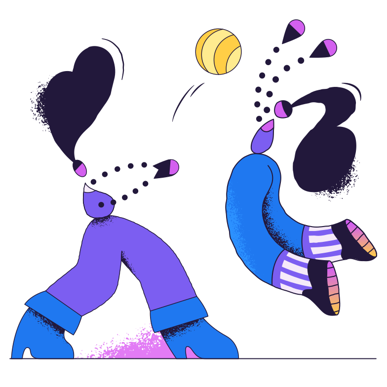 Volleyball Clipart illustration in PNG, SVG
