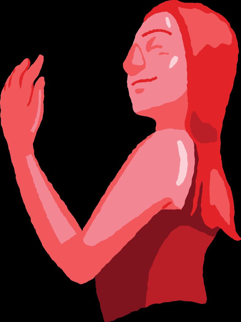 Клипарт Мирный женский торс в PNG и SVG