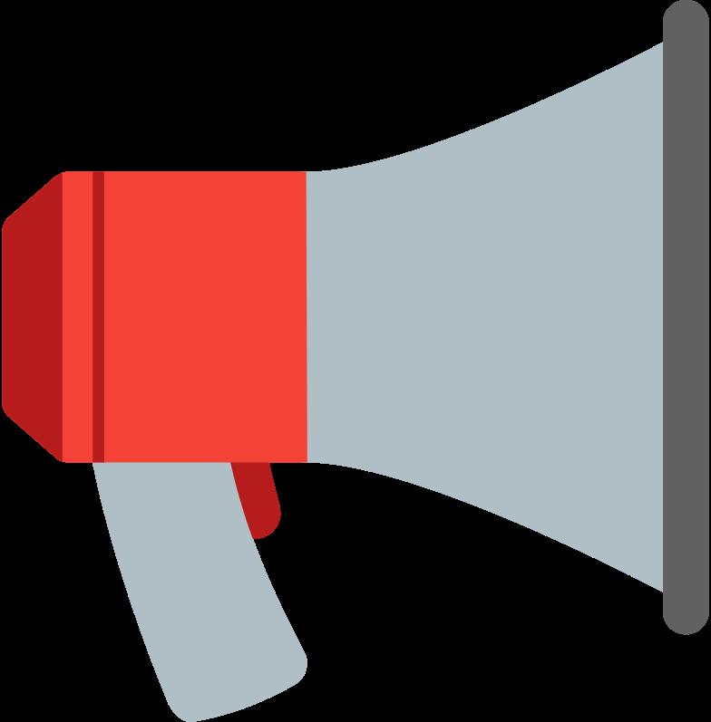megaphone Clipart illustration in PNG, SVG
