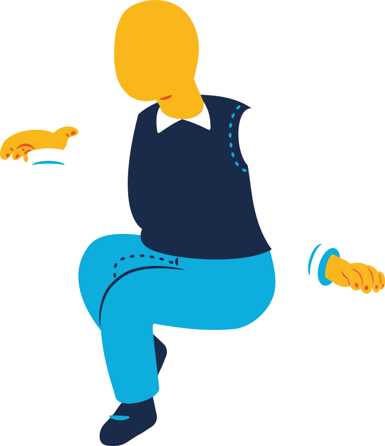 chubby old man sitting Clipart illustration in PNG, SVG