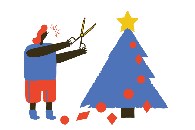 Hate for Christmas Clipart illustration in PNG, SVG