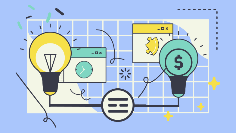 style Great ideas lead to great money Vector images in PNG and SVG | Icons8 Illustrations