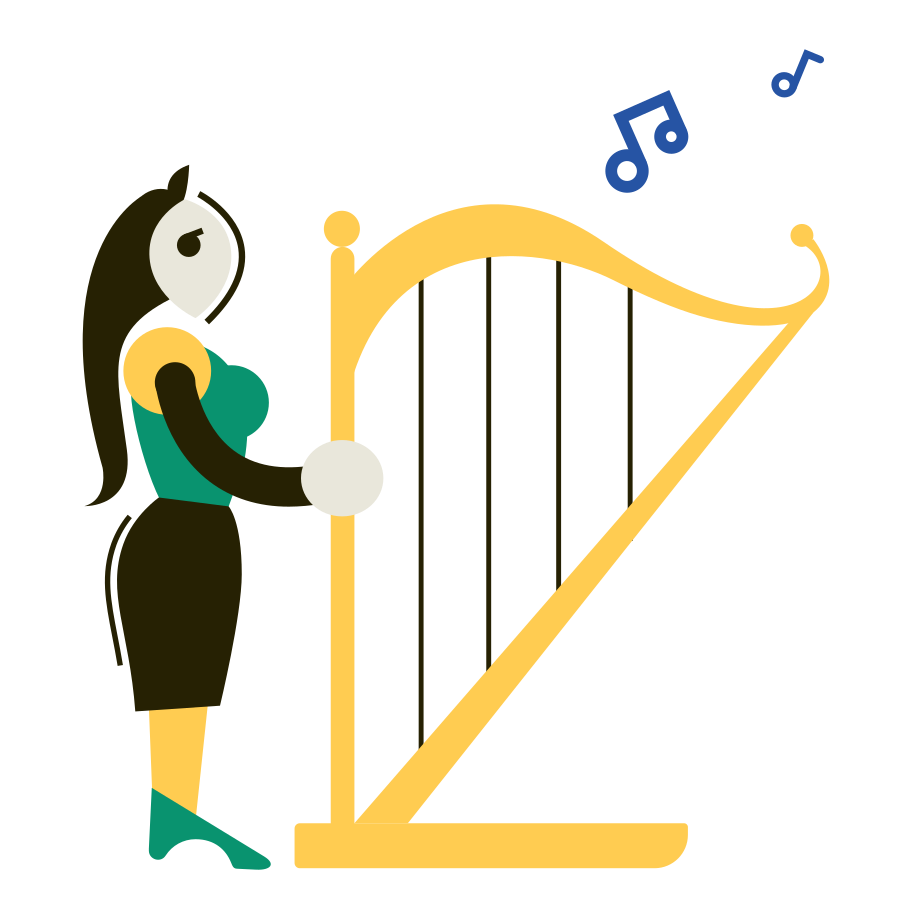 Musician Clipart illustration in PNG, SVG