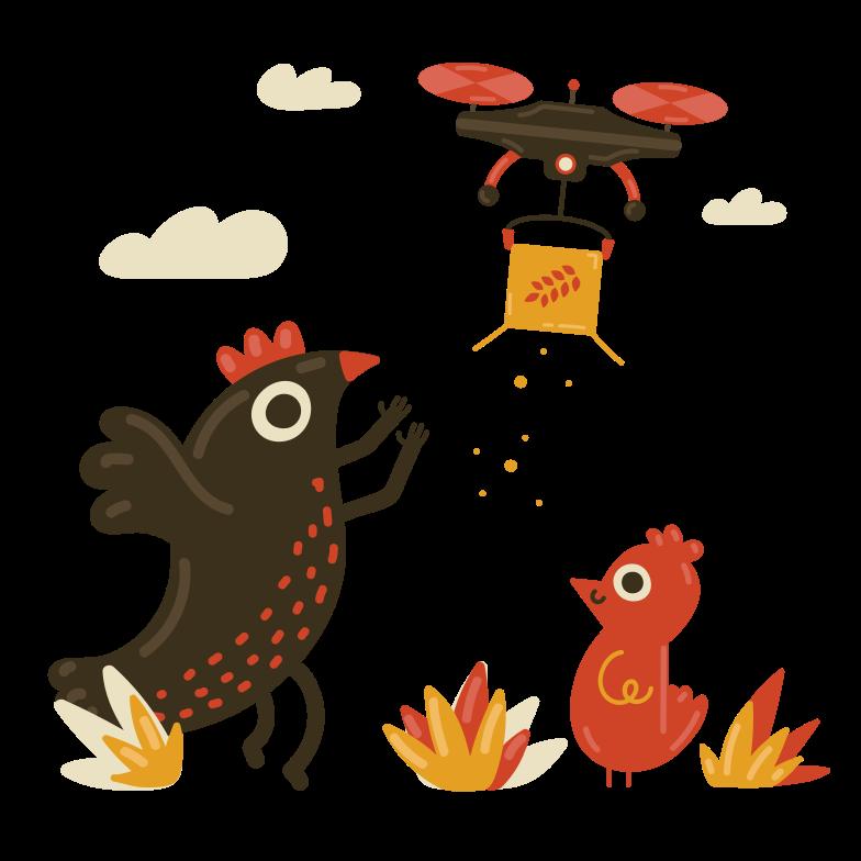 Smart farm Clipart illustration in PNG, SVG