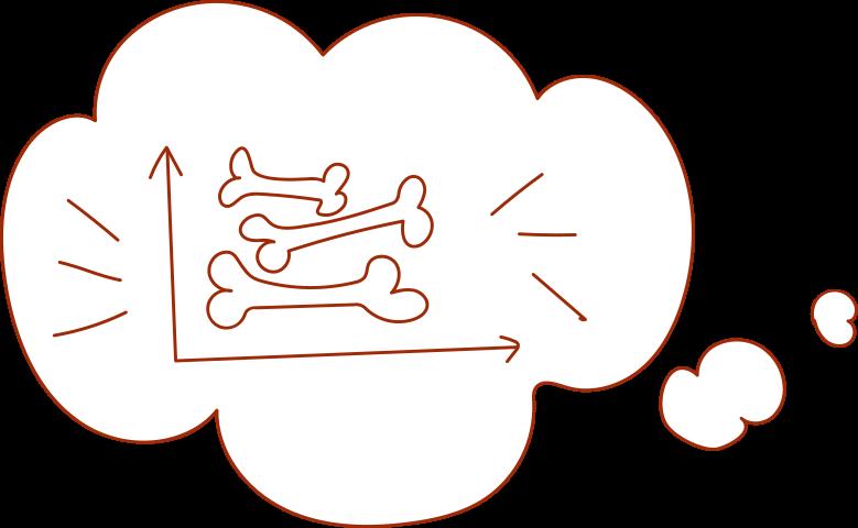 i investmen graph with bones Clipart illustration in PNG, SVG