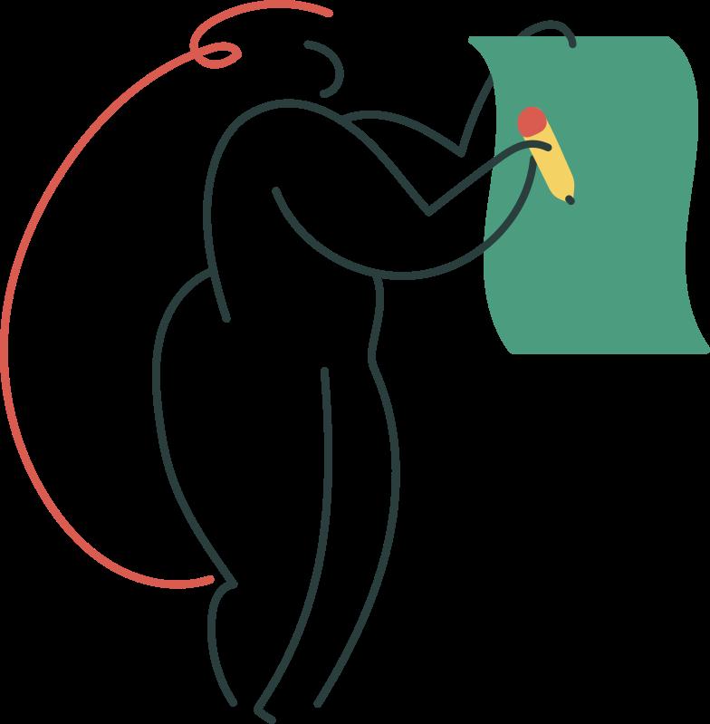 sign up  girl Clipart illustration in PNG, SVG
