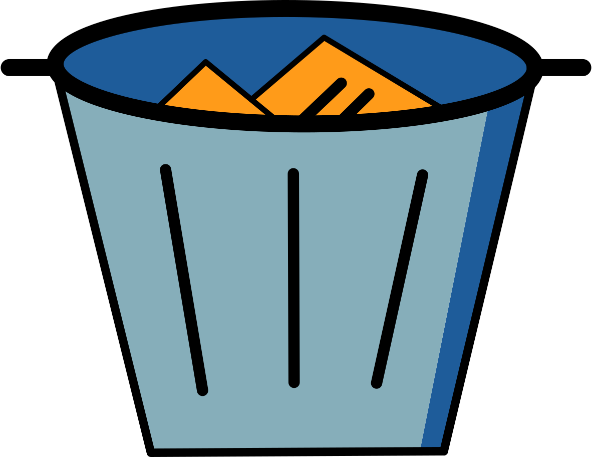 style trash bin full Vector images in PNG and SVG | Icons8 Illustrations