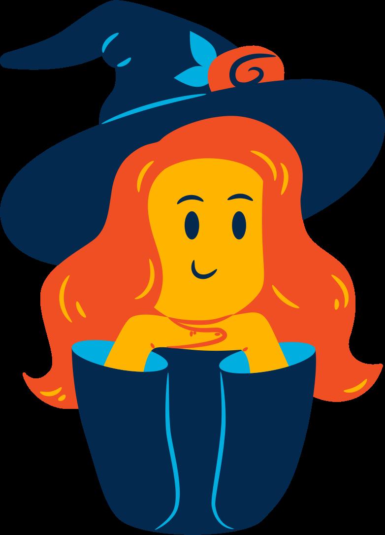 Иллюстрация Наполовину ведьма в стиле  в PNG и SVG | Icons8 Иллюстрации