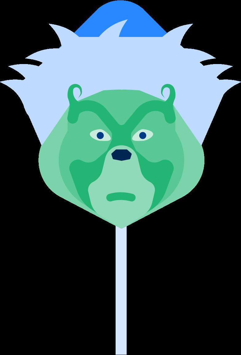 grinch mask Clipart illustration in PNG, SVG