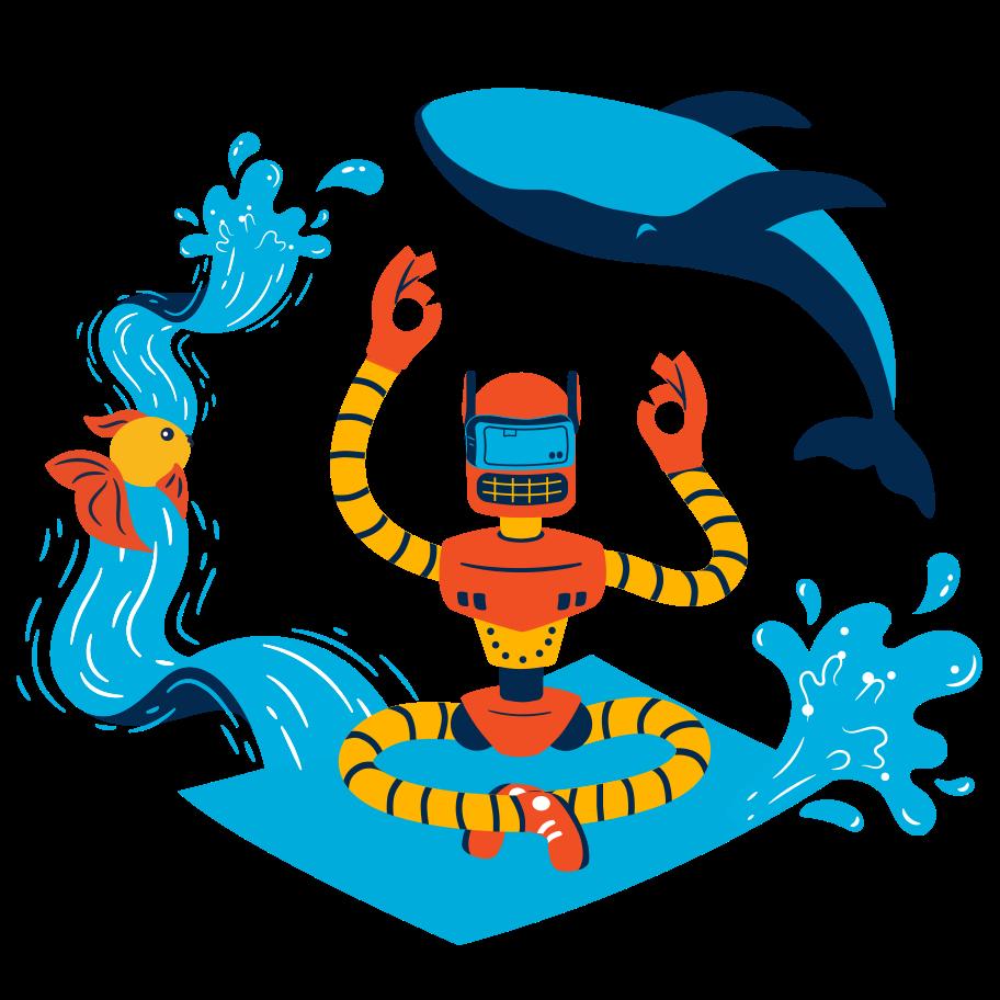 VR meditation Clipart illustration in PNG, SVG